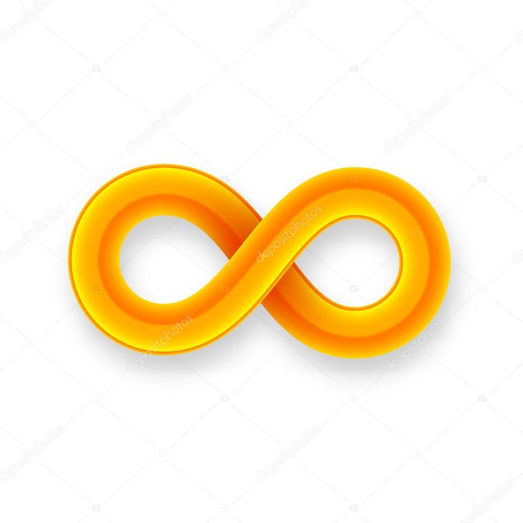 Orange Infinity Symbol Icon Stock Vector 169 Sidmay 53335495