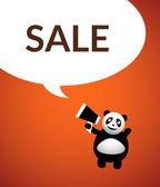 Panda cartoon karaktär — Stockvektor