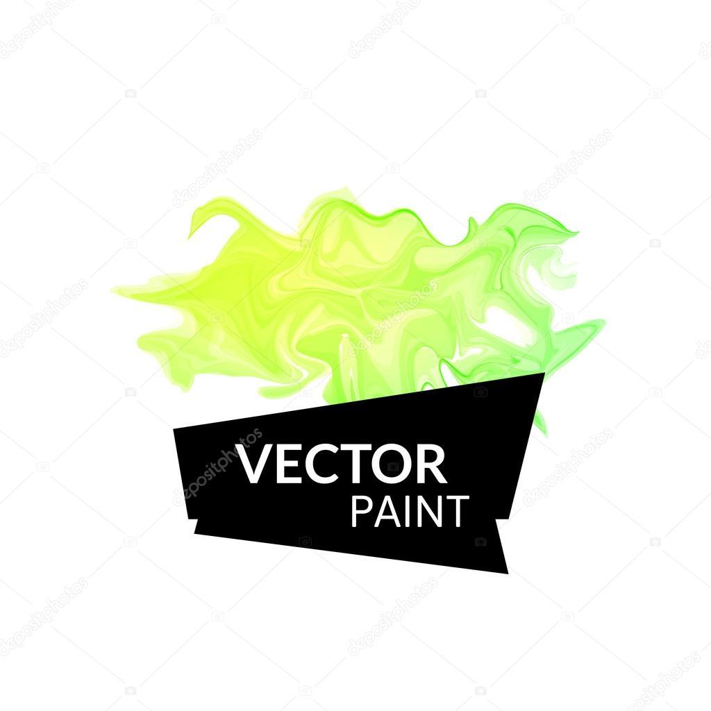 虚拟技术把颜料泼在白色背景上孤立
