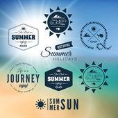 Summer holidays  design — Stock Vector