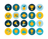 Winning, prizes and awards icons — Stock Vector