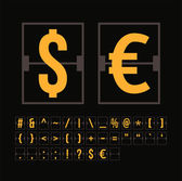 Outline scoreboard symbols — Stock Vector