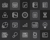 Businnes  icons — Stock Vector