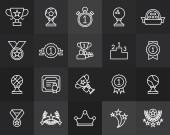 Prizes and awards icons — Stock Vector
