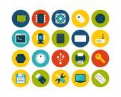 Computer collection icons — Stock Vector