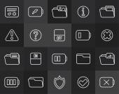 Outline icons — Stock Vector