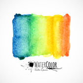 Watercolor bright colors painted isolated banner — Stock Vector