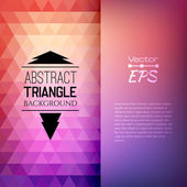 Retro mosaic pattern of geometric triangle shapes — Stock Vector