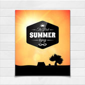 Poster summer theme, healthy life style — Stock Vector