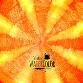Watercolor striped radiant pattern — Stok Vektör