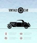 Retro cabriolet car — Stock Vector