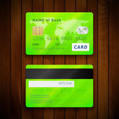 Two sides of credit cards — Vector de stock