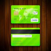 Two sides of credit cards — Stock vektor