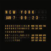 Flache kalender anzeiger — Stockvektor