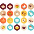 Baby and childhood flat icons set — Stock Photo #55574909