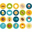 Food and drink flat icons set — Stock Photo #55576197