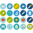 Medical flat icons set — Stock Photo #55576217