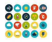 Weather flat icons set — Stock Photo