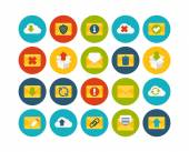 Mail and cloud flat icons set — Foto Stock
