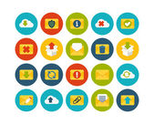 Mail and cloud flat icons set — Stock fotografie