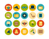 Vintage flat icons set — Stockfoto