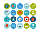 Medical flat icons set — Stock Photo