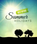 Poster summer theme — Stockfoto