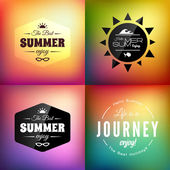 Retro styled summer card set — Stockfoto