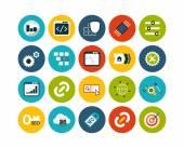 SEO and Development flat icons set — Stock Photo