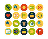 Universal flat icons set — Stock Photo