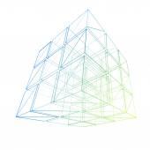 Cube geometry construction icon — Stock Photo