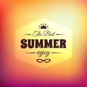 Retro styled summer design card — Stockfoto