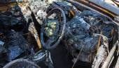 Car after fire — Stock Photo