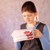 Valentines Day portrait of girl — Foto de Stock