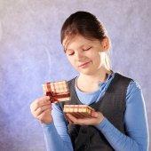 Valentines Day portrait of girl — Stock fotografie