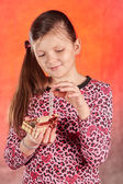 Valentines Day portrait of girl — Stock Photo