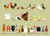 Cartoon Farm Characters (Part 2) — Stockvektor