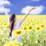 Happy carefree summer girl — Stock Photo #53818651