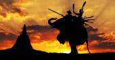 Elefant duell den ehrenamtlichen kampf auf elefanten — Stockfoto