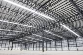 Large modern empty storehouse — Stock Photo