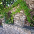 Stone arch with a lattice fence — Stock Photo #65859401
