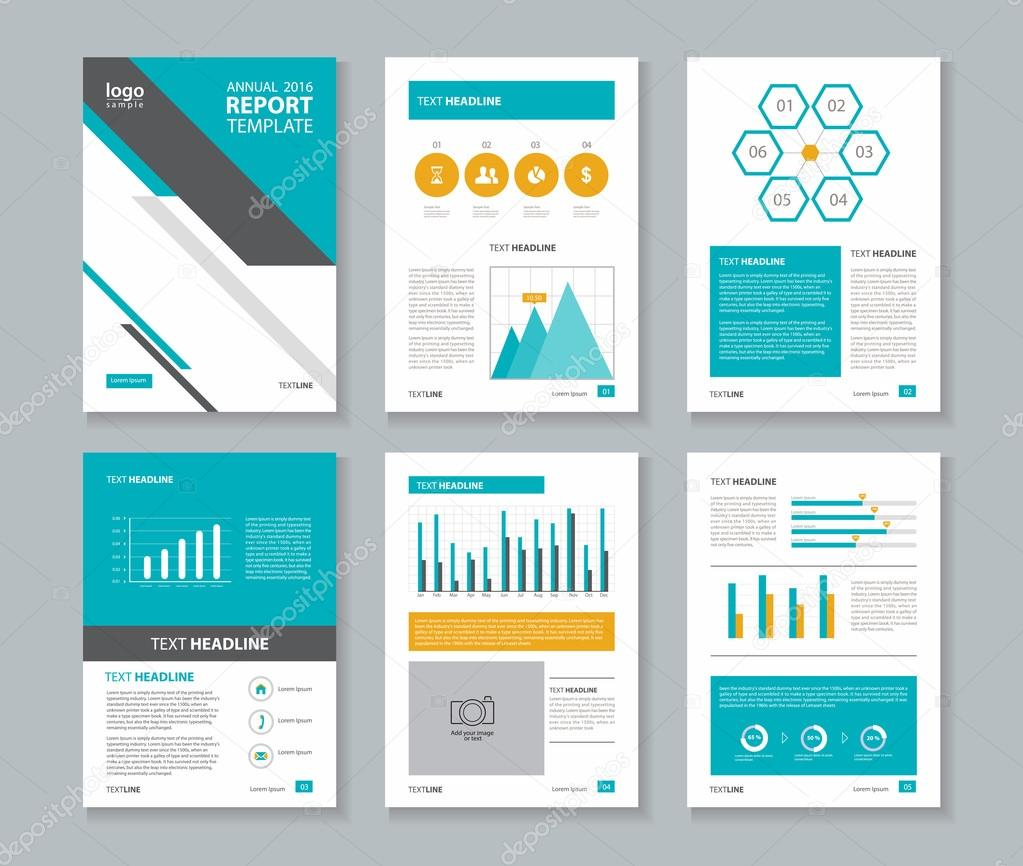 Annual report cover page templates
