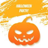 Scary halloween balkabağı — Stok Vektör