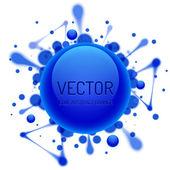 Round Glossy Inkblot — Stock Vector