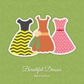 レトロなドレスの背景 — ストックベクタ