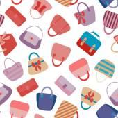 Kolekce retro žena tašky — Stock vektor