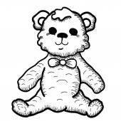 Mão desenhada de ursinho de pelúcia — Vetorial Stock