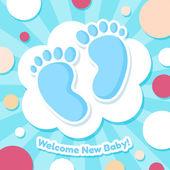 Welkom baby kaart — Stockvector