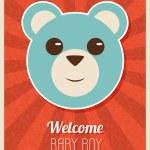 Welcome Baby Boy Card — Stock Vector #59579887