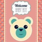 Welcome Baby Boy Card — Stock Vector #59581445
